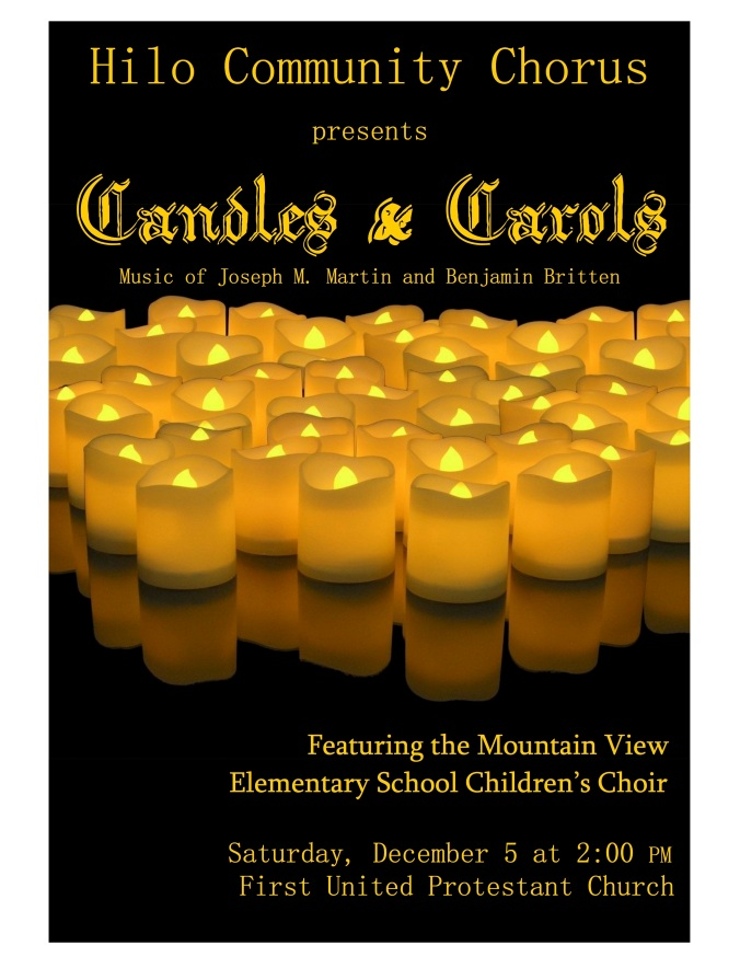 ceremony of carols Poster Fall 15