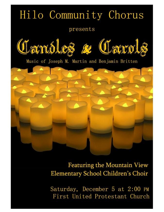 ceremony of carols Poster Fall 15